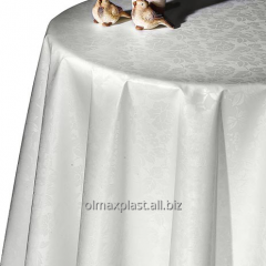 The Turkish snow-white festive oilcloth on a table