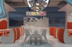 Soft sofa in restauran