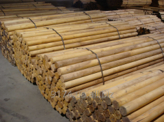 Column round timber of D 10 cm - D 16 cm, L = 4,5