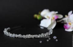 Свадебный ободок из кристаллов