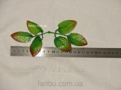 Artificial leaves of a rose, on 1 socket of 6