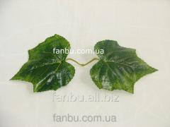 Artificial pair leaves of grapes (biggest), on 1