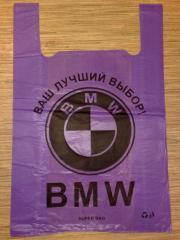 Пакет поліетиленовий BMW розмір 38х57