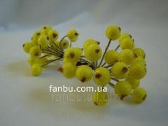 Искусственные засахаренные ягоды для декора желтые