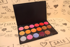 Palette of lipsticks of gloss of 18 flowers