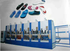 The equipment for production of soles, slates,