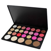 Palette of dry proofreaders of powders and blush