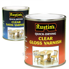 Quick-drying transparent varnishes of CLEAR