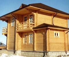 Дома из оцилиндрованного и клееного бруса