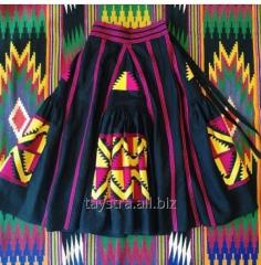 Skirt female with embroidery, 4 wedges, bokho,