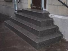 Tile granite of Korostyshev for steps