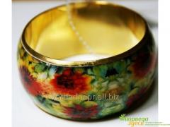 Браслет кольцо Орнамент Цветы Моне