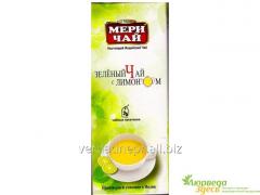 Green Indian tea with Meri Chai lemon, 25 Pak.