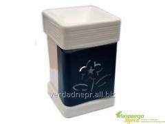 Aromalampa ceramic V-368 white 10,5 * 9 cm.