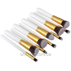 Set of professional brushes for make-up of 10