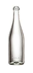 Скляна пляшка для вина та шампанського біла 750 ml