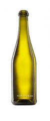 Скляна пляшка для вина та шампанського оливкова 750 ml