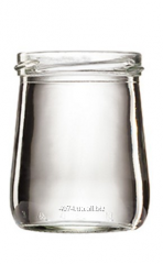 Банка скляна для молочних продуктів прозора  на 180 мл ІІІ-66-180  Номер  26225