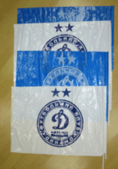 Flags from polyethylene
