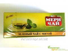 Green Indian tea with mint, Meri Chai Mint