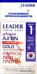 Крючок Leader Крючок Leader AJI GOLD №3