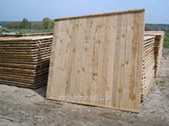 Wooden fences from boards 2,0х2,0 - 160,00