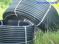 Полиэтиленовые водопроводные трубы  на 16 атм.