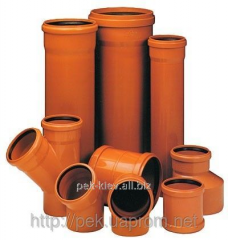 Pipe PVC for the external sewerage with a bell of