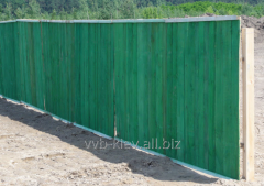 Wooden fences for buildings, protections