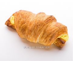 Croissant with banana
