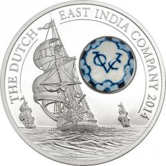 Silver Coin Dutch East India Company with an