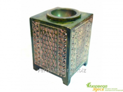 Аромалампа каменная квадратная, 12*8*8см. арт.AWT2014/S 9120062