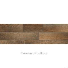 He tile of InterCerama DREAM dark is brown 15x50