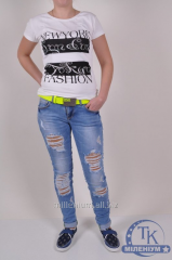 Jeans with belt female streychevy DSQUARED 15093