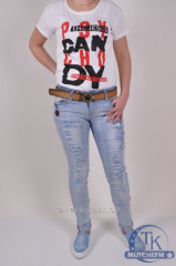 Jeans with belt female streychevy DSQUARED 15092