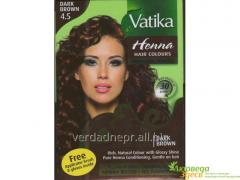 Dabur Vatika Naturals paint Dark-Brown for hair on