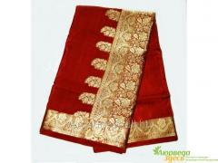 Calmness sari red velve
