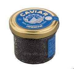Black caviar of a sturgeon