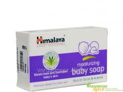 Мыло увлажняющее детское с миндалём, Himalaya Baby