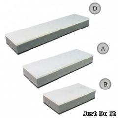 Whetstones grinding foamy / A