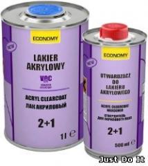 Colourless acrylic varnish 2+1 1 l (set)