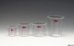 Volumetric plastic glass (0,375L)