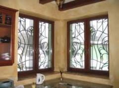 Frame window wooden
