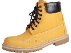 Ботинки городские ручной работы, желтые