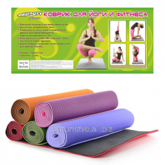 Mat for yoga of MS 0614 TRE rubber the 182-60th in
