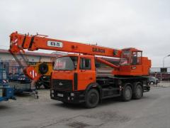 The KTA-25 truck crane on the MAZ chassis