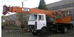 The truck crane the ATHLETE, MAShEKA, KLINTSY,