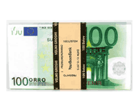 Roll of money souvenir of 100 Euros 100E