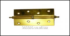 Петли к дверям 120 мм А5 4ВВ (желтые) L+R