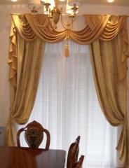 Классические шторы. Раздвижные портьеры в